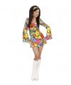 Carnavalskostuum Hippie jurkje met bloemen