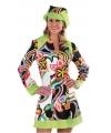 Carnavalskostuum Hippie/Sixties jurk dames