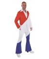 Rood, wit, blauw kostuum 70s