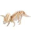 Houten 3D puzzel dinosaurier Triceratops met app