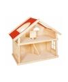 Kinderen poppenhuis hout met 1 verdieping