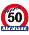 Verjaardag Huldeschild Abraham 50 jaar