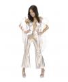 Carnavalskostuum Jumpsuit dames zilver