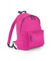 Fuchsia roze kinder school rugtas van polyester