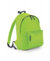 Lime kinder school rugtas van polyester
