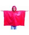 Kinder regen poncho rood