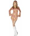 Carnavalskostuum Kort hippie jurkje voor dames