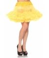 Korte gele petticoat voor dames