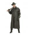 Carnavalskostuum Lange zwarte cowboys jas