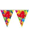 Verjaardag Leeftijd vlaggenlijn 4 jaar
