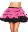 Luxueuze petticoat fuchsia met zwart