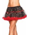 Luxueuze petticoat luipaard print met rood