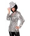 Carnavalskostuum Luxe dames colbert zilver