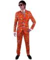 Luxe heren kostuum Holland print