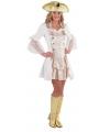 Carnavalskostuum Luxe piraten jurkje wit