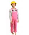 Carnavalskostuum Luxe roze tuinbroek voor kinderen