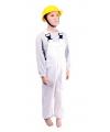 Carnavalskostuum Luxe witte tuinbroek voor kinderen
