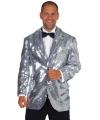 Carnavalskostuum Luxe zilver colbert
