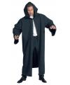 Carnavalskostuum Luxe zwarte mantel