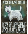 West Higland terrier ouderwetse metalen poster