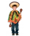 Carnavalskostuum Mexicaanse poncho voor kinderen