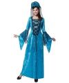 Middeleeuwse prinses jurk blauw