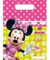 Plastic feestzakjes van Minnie Mouse 6 stuks