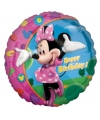 Feestversiering folie ballonnen Minnie Mouse Happy Birthday