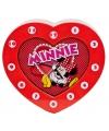 Rode speelgoed klok Minnie Mouse