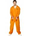 Carnavalskostuum Oranje gevangenen kostuum