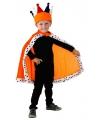Koningsdag mantel oranje voor kinderen
