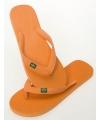 Oranje teenslippers voor heren