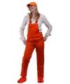 Oranje artikelen Oranje tuinbroek voor kinderen