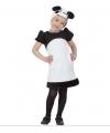 Pandabeertjes outfit voor meiden