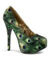 Pauwenprint heels