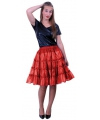 Dames petticoat 5-laags rood