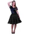 Zwart petticoat rokje 5-laags