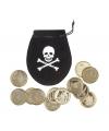 Kinderfeestje Piraat buidel met munten