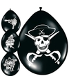 Kinderfeestje Piraten ballonnen 8 stuks