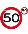Verjaardag Placemats en onderzetters 50 jaar