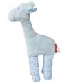 Kado knuffels giraffe blauw 19 cm