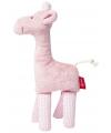 Kado knuffels giraffe roze 19 cm