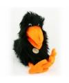 Kinder Pluche handpop zwarte raaf 40 cm
