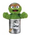 Groene Sesamstraat prullenbak knuffel 25 cm