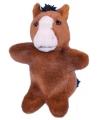 Pluche paard handpop 28 cm