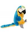 Kinder Pluche papegaai handpop blauw 28 cm