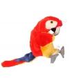 Kinder Pluche papegaai handpop rood 28 cm