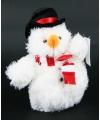 Kinder Pluche sneeuwpop 14 cm