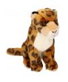 Kinder Pluche zittende jaguar knuffel 25cm