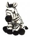 Afrikaanse zebra knuffel 30 cm